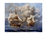 USS Constellation Defeats L'Insurgente During Undeclared War with France  1799