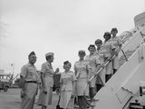 First Five Air Force Women Assigned to Vietnam Arrive at Tan Son Nhut  June 1967