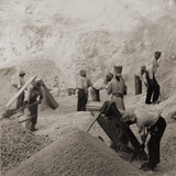 Afro-Caribbean Laborers  Including One Woman  in the Stone Quarries  Jamaica in 1900