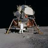 Apollo 11 Lunar Module on the Moon's Surface  July 20  1969