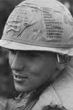 US Army Sky Trooper Helmet Tracks His 13 Month Tour of Duty  Vietnam  Feb 1968