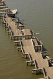 Hurricane Katrina Destroyed Section of Highway I-90 Bridge Near Gulfport  2005