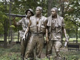 The Three Soldiers by Frederick Hart Was Added to Vietnam Veterans Memorial  1984