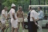 Menahem Begin with Jimmy Carter  Z Brzezinski  and C Vance at Camp David  1978