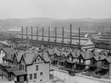 Rows of Neat Family Houses Near the Homestead Steel Works  Pennsylvania  Ca  1905