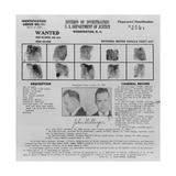Wanted Poster for John Dillinger  1934
