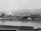 Carnegie Blast Furnaces at the Homestead Steel Works  Pennsylvania Ca  1905