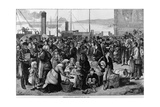 Emigrants Leaving Queenstown  Ireland  for New York  1874