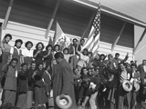 Mexican Farm Workers Arriving in Stockton  California  During WW2  May 1943