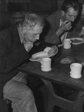 Unemployed Men at Volunteers of America Soup Kitchen in Washington DC  Ca 1934-39