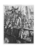 People on a Ship Deck Waving as They Depart England for North America  1870