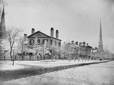 Detroit  Michigan  at Fort and Griswold Street  1870