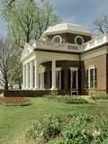 Monticello  Thomas Jefferson's Plantation Home  West Front from Southwest  Ca1995