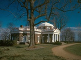 Monticello  Thomas Jefferson's Plantation Home  West Front from Northwest  1978