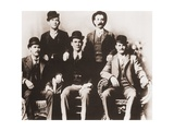Butch Cassidy's Wild Bunch Gang of Train Robbers in Portrait Taken in 1901