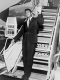 Muhammad Ali  Waves from the Steps of a TWA Airplane at JFK Airport  NYC  1964