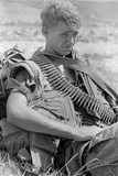 US Marine Takes a Break North of an Hoa  North Vietnam  1969