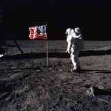 Apollo 11 Astronaut Buzz Aldrin During the First Lunar Landing  July 20  1969
