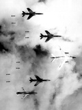 US Air Force F-105 Thunderchiefs Bombing North Vietnam  June 14  1966
