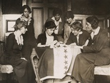 National Woman's Party's Alice Paul Sews a Star on Ratification Flag  Ca 1919