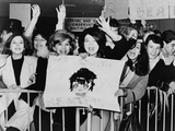Screaming Teenagers Girls Welcome 'The Beatles' at NYC's Kennedy Airport  Feb 7  1964