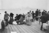 Immigrants Waiting for Ferry from Ellis Island to New York City  Oct 20  1912