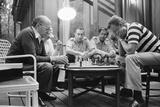 Menahem Begin and Zbigniew Brzezinski Play Chess at the Camp David Summit  1978