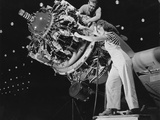 Man and Women Working Together at Douglas Aircraft Plant Long Beach California Ca  1942