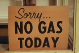 Sorry No Gas Today' Sign at an Oregon Gas Station in October 1973