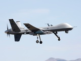 MQ-9 Reaper Drone on a Training Mission Above Creech Air Force Base  Aug 2008