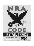 National Recovery Administration  NRA  Poster of 1934