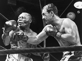 Rocky Marciano Landing a Punch on Jersey Joe Walcott  Sept 23  1952