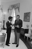 Sammy Davis Jr with Richard Nixon in the Oval Office March 4 1973