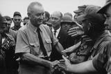 President Johnson Visits US Soldiers at Cam Ranh Bay  Vietnam  Oct 26  1966