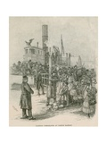 Immigrants Leaving a Sternwheeler at New York City's Castle Garden in 1884