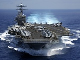 USS Carl Vinson in Indian Ocean During the Second Gulf War  Mar 15  2005