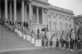 Woman Suffrage Demonstration with Banners at the US Capitol in 1917