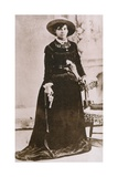 Belle Starr  Female Western Outlaw  Holding a Revolver  Ca 1880