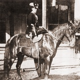 Belle Starr  Female Outlaw Rode in a Side Saddle and in Feminine Costume  Ca 1880