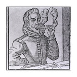 16th Century Dutchman Smoking a Long-Stemmed Pipe  with Another Pipe and Roll of Tobacco