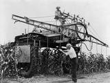 Large-Scale Spraying Insecticide Containing Ddt on a Farm in Illinois in 1948
