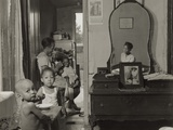 Ella Watson  a Government Charwoman Feeds Her Grandchildren in Dc Apartment  1940