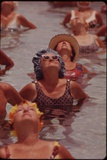Senior Women in Exercises at Century Village Retirement Community  Florida  1970s