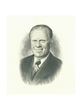 Engraving of President Gerald Ford by the US Bureau of Engraving and Printing