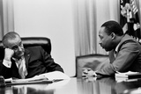 President Lyndon Johnson and Martin Luther King During a Meeting  March 18  1966