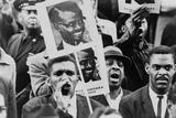African American Men at a Demonstration Supporting Patrice Lumumba  Jan  17  1961