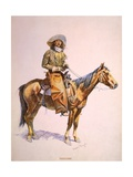 Arizona Cow-Boy on Horseback  Pastel Drawing by Frederic Remington  Ca  1900