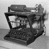 Early Model of a Scoles and Glidden Typewriter  with 18 Keys  Ca 1870