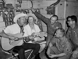 Roy Rogers and Dale Evans Entertain Troops in Vietnam on a USO Tour Nov 11  1966