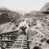 Panama Canal Construction at the Culebra Cut  Panama Canal in 1907